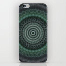 Mandala in malachite green tones iPhone Skin