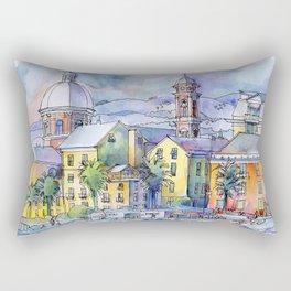 Pegli dal mare Rectangular Pillow