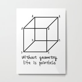 Without geometry life is pointless Metal Print
