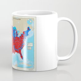 United States Presidential Election, results by county, November 6, 2008 Coffee Mug