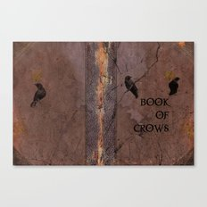 Old Book Of Crows Canvas Print