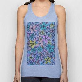 Flower Pattern in colour Unisex Tank Top