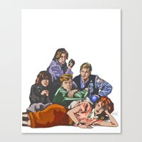 breakfast club Canvas Prints featuring The Breakfast Club by Heidi Banford