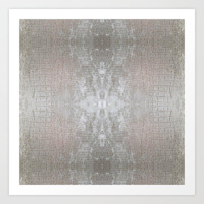 Silver Velvet Snake Pattern Kunstdrucke