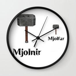 Mjolnir...Mjolfar away. Wall Clock