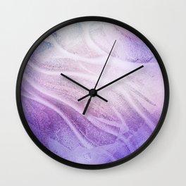 Frozen in Purple Haze Wall Clock