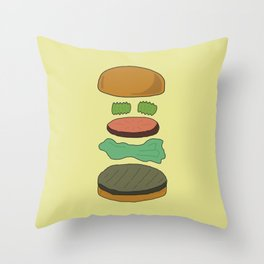 Burger Assembly Throw Pillow