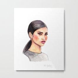 Iman Metal Print