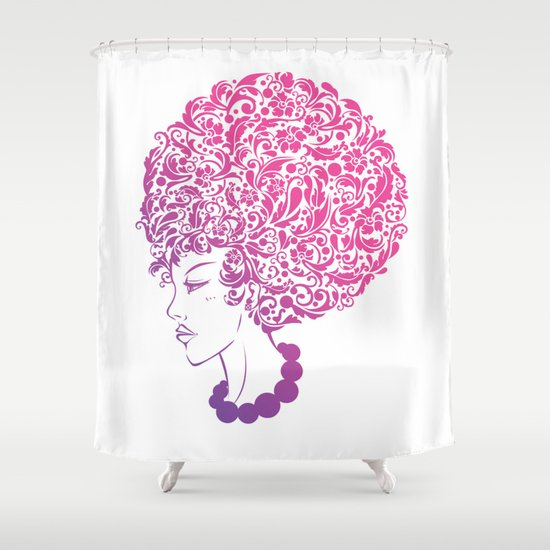 Ms. Floral Shower Curtain