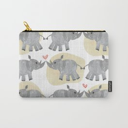 Rhino love yellow Carry-All Pouch