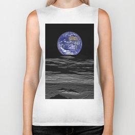 Earth from the moon Biker Tank