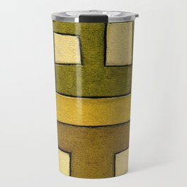Protoglifo 02 'ochre closer to green' Travel Mug