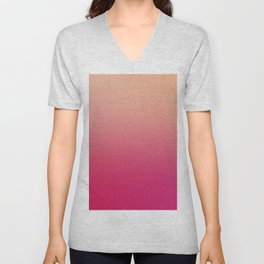GENTLE SOUL - Minimal Plain Soft Mood Color Blend Prints Unisex V-Neck