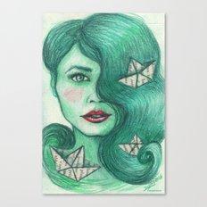 Paper ships III Canvas Print