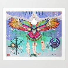 Flying Eagle Art Print