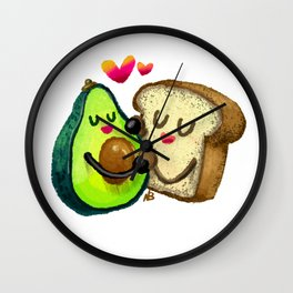 Avocado Toast Wall Clock