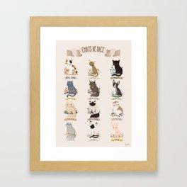 Cats Breed Framed Art Print