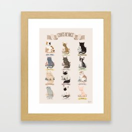 Cats Breed Framed Art Print