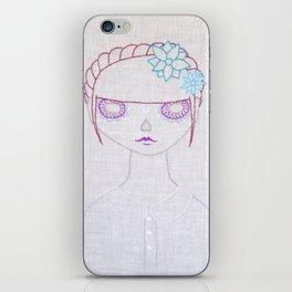 Dia de los Muertos Embroidery iPhone Skin