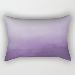 Inspired by Pantone Chive Blossom Purple 18-3634 Watercolor Abstract Art Rectangular Pillow