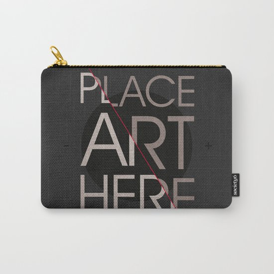 The Art Placeholder Carry-All Pouch