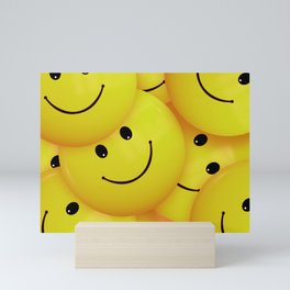 Smiles Yellow Round Smileys Mini Art Print