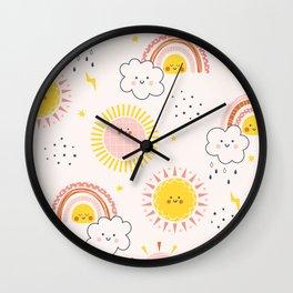 RAINBOW FRIENDS Wall Clock