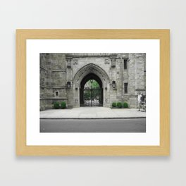 Yale - Graduation Gate Framed Art Print