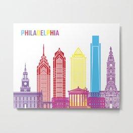 Philadelphia skyline pop Metal Print