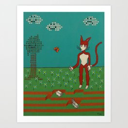 8-bit Nightmare Art Print