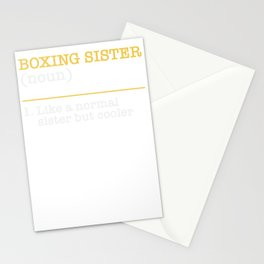 Boxing Sister Girl Martial Arts Quote Stationery Cards