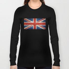 UK flag - High Quality Bright retro 1:2 Scale Long Sleeve T-shirt