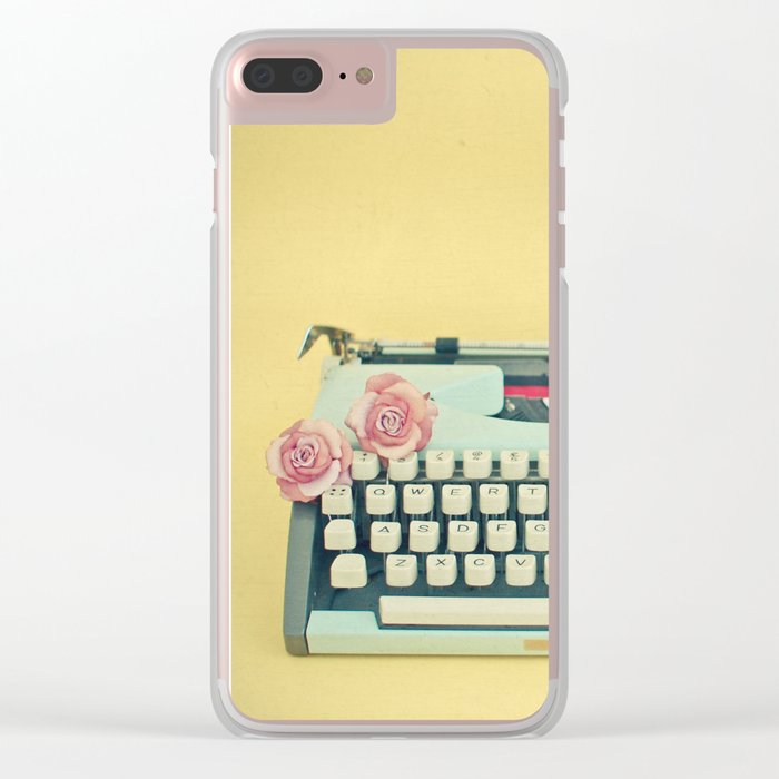 The Typewriter Clear iPhone Case