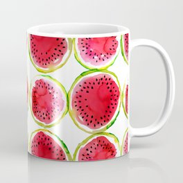 Watercolor watermelon fruit illustration Coffee Mug