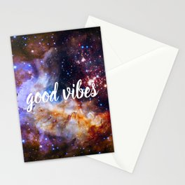 Good Vibes Hubble Space Photo Carina Star Cluster Stationery Cards