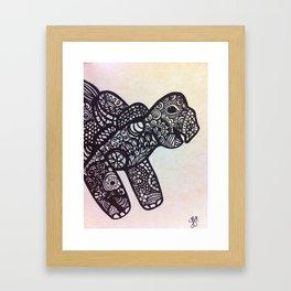 zen turtle Framed Art Print