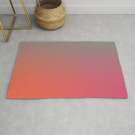 STRINGS OF LIGHT - Minimal Plain Soft Mood Color Blend Prints Rug