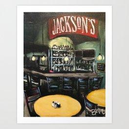 Jackson's Bar & Bistro Art Print