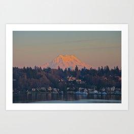 Mount Rainier Sunset Art Print