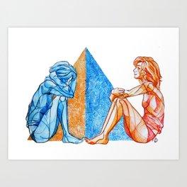 December - Reflect Art Print