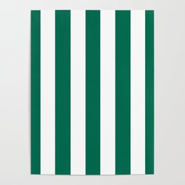 Bangladesh green - solid color - white vertical lines pattern Poster
