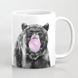 Bubble Gum Big Bear Black and White Coffee Mug