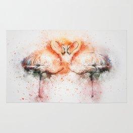 Flamingo love Rug
