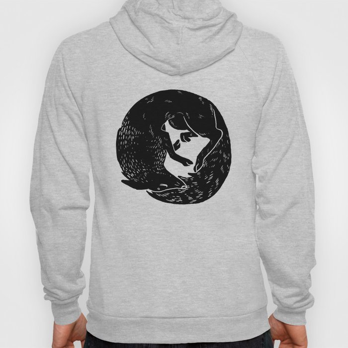 black and white thoughts Hoody