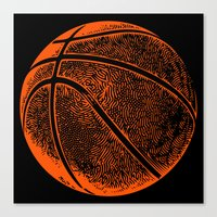 basketball Canvas Prints featuring Basketball by C Liza B