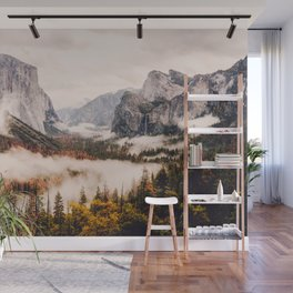 Amazing Yosemite California Forest Waterfall Canyon Wall Mural