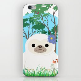 Super cute white two toed Sloth iPhone Skin