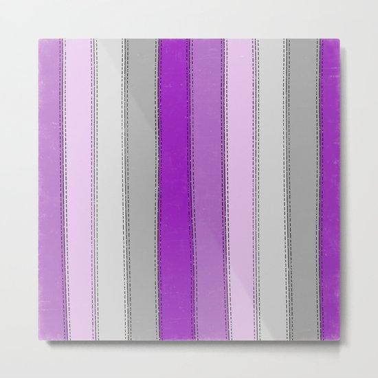 Purple lines Metal Print