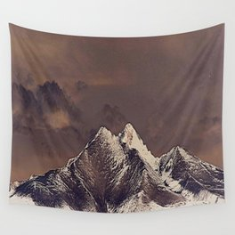 Rustic Mountain Wall Tapestry