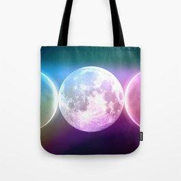 Moon Triple Goddess Rainbow Tote Bag